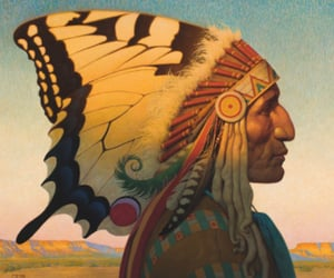 feathers, headdress, and indian image