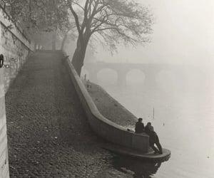 undr:  Kees Scherer. Seine in the mist,Paris 1955