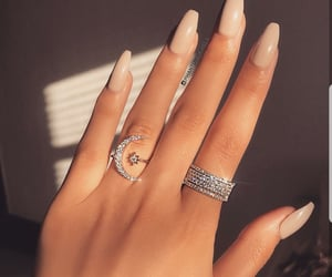nails, jewelry, and beauty image