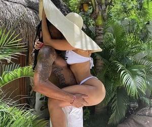 boyfriend, hat, and hug image