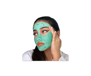 beauty, mask, and overlay image