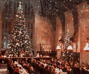 christmas, header, and hogwarts image