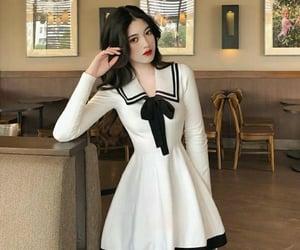 dress, korean, and sailor dress image
