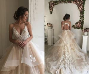 cheap bridal dress, champagne wedding dresses, and vestido de novia image