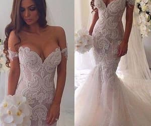 wedding gown, mermaid wedding dress, and vestido de novia image