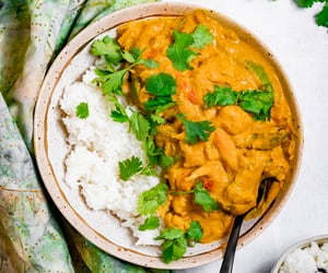 curry, pumpkin, and vegan image