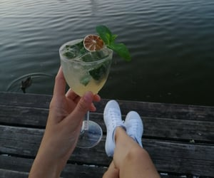 convers, relaxing, and drink image