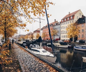 adventure, autumn, and boat image