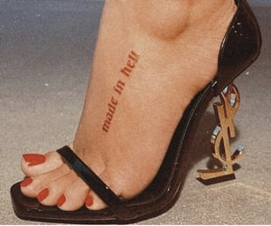 tattoo, heels, and red image