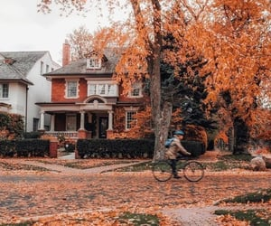 fall, autumn, and house image
