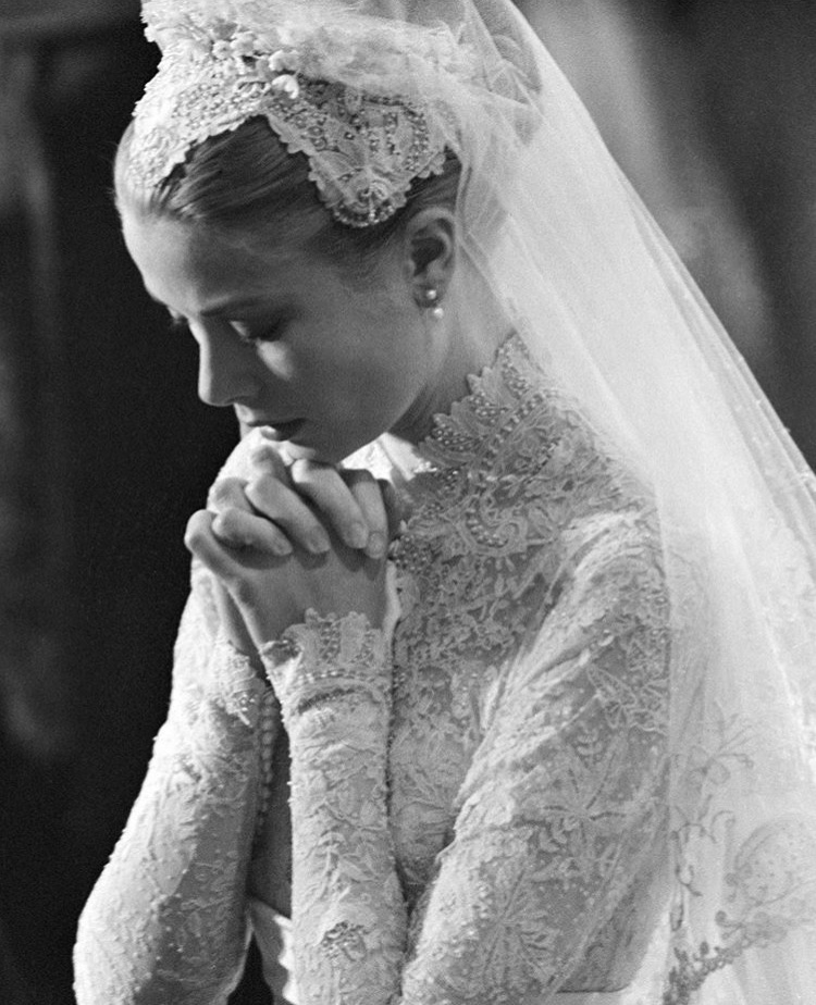 wedding, grace kelly, and bride image