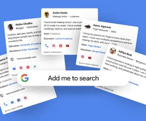 google, add me to search, and google people card image