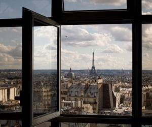 paris, window, and aesthetic image
