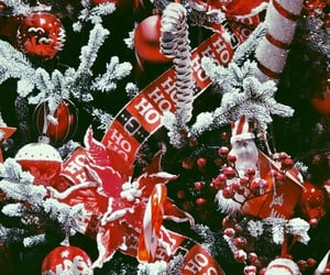background, christmas, and ornaments image