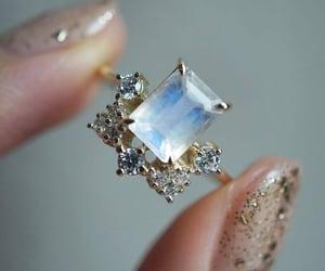 blue, diamond, and nails image