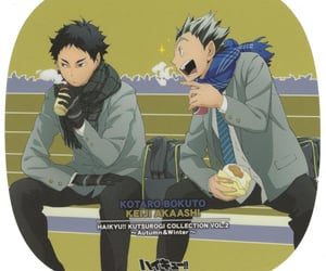anime, bokuto, and official art image
