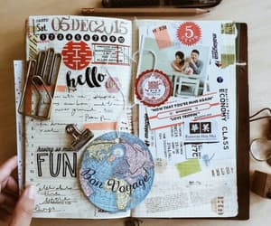 journal, travel, and book image