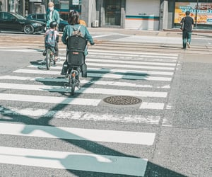 bicycle, crossing, and photography image
