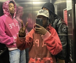 fashion, hoodies, and denim jeans image