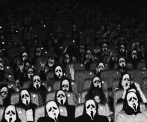 scream, movie, and black and white image