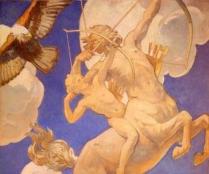 art, blue, and greek mythology image