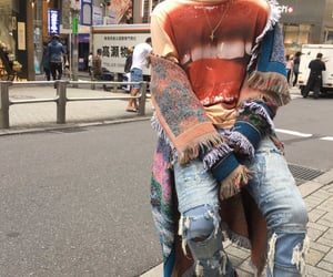 fashion, jakcets, and denim distressed jeans image