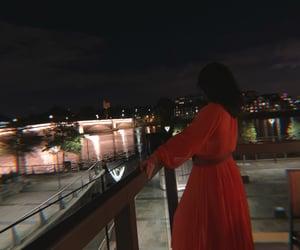 bridge, brunette, and orange image