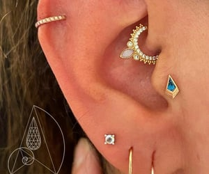 earring, fashion, and cartilage image