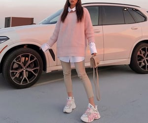 aesthetic, beige, and car image