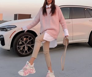 beige, car, and outfit image
