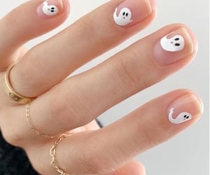 nails, ghost, and Halloween image