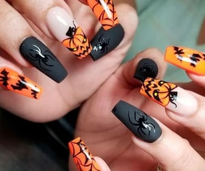 Halloween, halloween nails, and nails image