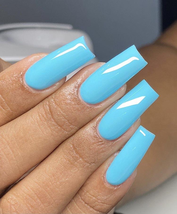 Bleu, blue, and nails image