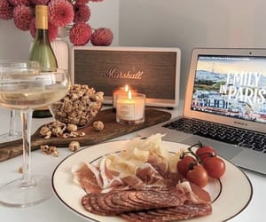 champagne, food, and snacks image