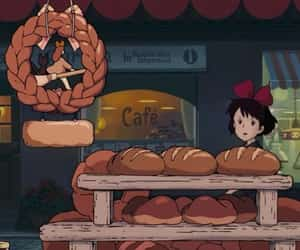 anime, bread, and food image