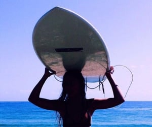 aesthetic, surfboard, and surfing image
