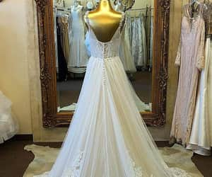 dress, wedding gown, and wedding idea image