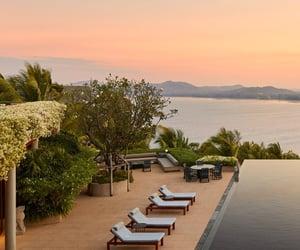 resort and sunset image