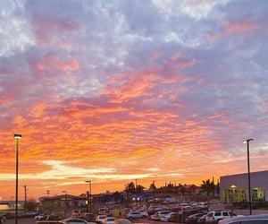 beautiful, orange, and sky image