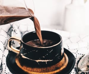 cocoa, cup, and hot chocolate image