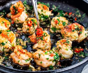 chilli, herb, and shrimp image