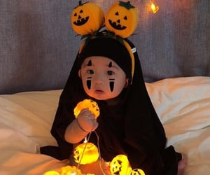 baby boy and Halloween image