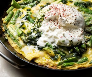 asparagus, omelette, and tortilla image