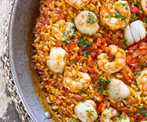 rice, scallop, and shrimp image