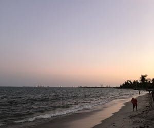 beach, ocean, and P image