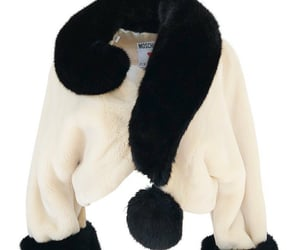 Vintage Moschino c. 1994 Faux Fur 'Question Mark' Coats
