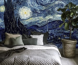 art, bedroom, and painting image