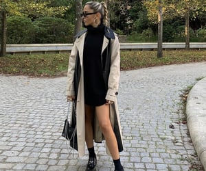 trench coat, prada shoes, and everyday look image