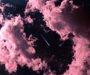 stars, clouds, and pink image