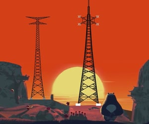 death note, radio tower, and strommast image